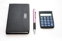 Taccuino, penna e calcolatore Immagine Stock Libera da Diritti