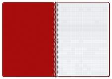 Taccuino rosso a quadretti aperto Illustrazione Vettoriale