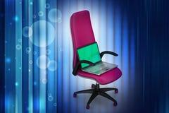 Taccuino sulla sedia Fotografia Stock Libera da Diritti