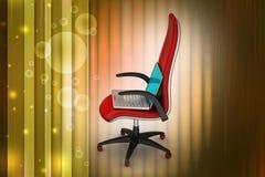 Taccuino sulla sedia Fotografie Stock Libere da Diritti