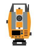Tachéomètre Dispositif pour mesurer les angles et l'appareillage de distances Illustration de vecteur Photographie stock libre de droits