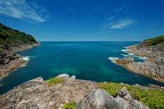 Tachai海岛观点 免版税库存照片