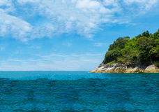 Tachai Island in Andaman with Crystal Clear Sea in Sunny Day Stock Photos