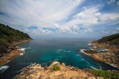 Tachai Island Viewpoint. At Similan Marine National Park Royalty Free Stock Photography
