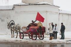 Tachanka voor toeristen Stock Foto