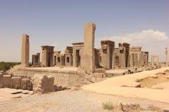 Tachara palace in Persepolis (Iran) stock photo
