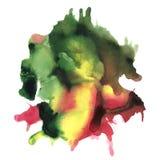 Tache abstraite d'aquarelle avec la couleur lumineuse Illustration tirée par la main pour la conception, le textile et le fond Image libre de droits