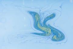 Tache acrylique liquide de couleur image stock