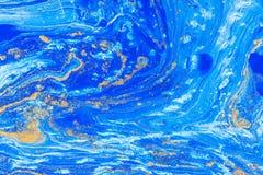 Tache acrylique liquide de couleur photographie stock