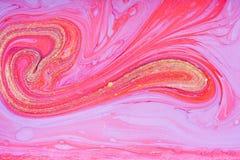 Tache acrylique liquide de couleur images stock
