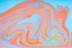 Tache acrylique liquide de couleur image libre de droits