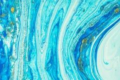 Tache acrylique liquide de couleur photo stock
