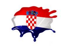 Tache avec le drapeau national de la Croatie illustration de vecteur