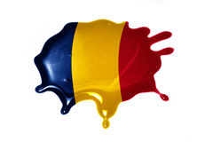Tache avec le drapeau national du confetti Images stock