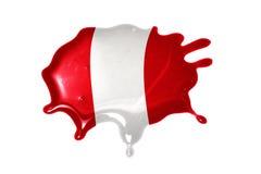 Tache avec le drapeau national du Pérou Images libres de droits
