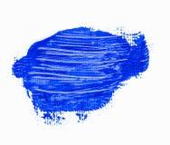 Tache bleue abstraite de peinture Image stock