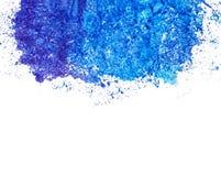 Tache bleue d'outre-mer d'aquarelle au dessus, au-dessous de l'endroit pour le texte, l'espace de copie photo stock