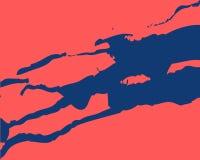 Tache bleue de modèle de résumé sur le fond rose illustration stock