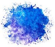 Tache bleue ronde d'aquarelle sur un fond blanc d'isolement avec l'espace de copie Le gradient du bleu profond au pourpre peu illustration de vecteur