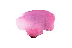 Tache colorée tirée par la main d'éclaboussure de peinture d'art de formes d'aquarelle abstraite d'aquarelle sur le fond blanc Photographie stock