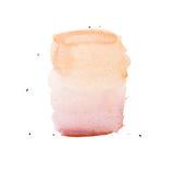 Tache colorée tirée par la main d'éclaboussure de peinture d'art de formes d'aquarelle abstraite d'aquarelle sur le fond blanc Image stock