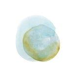 Tache colorée tirée par la main d'éclaboussure de peinture d'art de formes d'aquarelle abstraite d'aquarelle sur le fond blanc Photos stock
