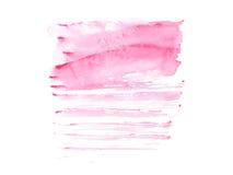 Tache colorée tirée par la main d'éclaboussure de peinture d'art de formes d'aquarelle abstraite d'aquarelle sur le fond blanc Photo stock