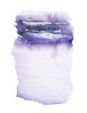 Tache colorée tirée par la main d'éclaboussure de peinture d'art de formes d'aquarelle abstraite d'aquarelle sur le fond blanc Image libre de droits