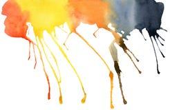 Tache d'aquarelle, d'isolement sur un fond blanc illustration libre de droits