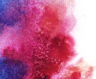 Tache d'aquarelle sur un fond blanc Fond peint ? la main abstrait d'aquarelle illustration stock