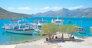 Tache de pique-nique sur Crète Image libre de droits