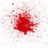 Tache de sang rouge sur le fond blanc image stock