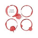 Tache de vin Marque en verre de vin d'isolement sur le fond blanc Vecteur illustration stock