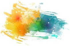 Tache de Watercolored avec des points illustration stock