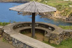 Tache dinante panoramique dans Terceira, Açores Image libre de droits