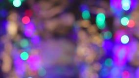 Tache floue abstraite avec clignoter la partie lumineuse de Bokeh banque de vidéos
