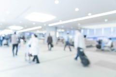 tache floue abstraite dans l'aéroport Images stock