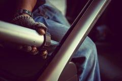 Tache floue c'est réparation ou accident automobile en verre claire Photos stock