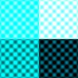 Tache floue circulaire vérifiée de grille - Azur et noir et blanc photo stock