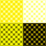 Tache floue circulaire vérifiée de grille - jaune et noire et blanche Photo libre de droits