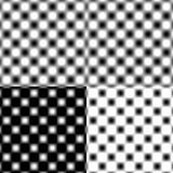 Tache floue circulaire vérifiée de grille - noir et blanc Photo stock