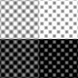 Tache floue circulaire vérifiée de grille - noir et blanc et gris photographie stock