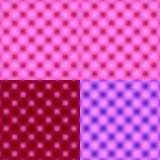 Tache floue circulaire vérifiée de grille - nuance tonale rose Photo stock