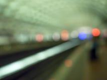 Tache floue d'abrégé sur tunnel de souterrain Images stock