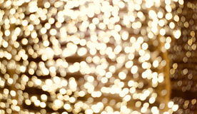 Tache floue d'or de lumières Photos stock