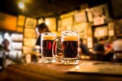 Tache floue de bière Images stock