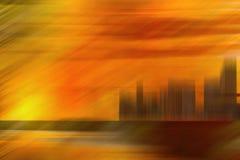 Tache floue de coucher du soleil Images stock