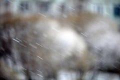 Tache floue de fond de texture d'hiver de neige de glace Photographie stock