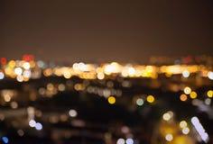 Tache floue de lumières de ville de nuit, Londres Photographie stock