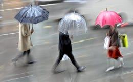 Tache floue de mouvement de jour pluvieux Image libre de droits
